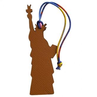 Hermes Petit H Camel Leather Bag charms