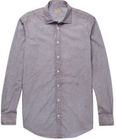 Massimo Alba - Canary Watercolour-dyed Checked Cotton-poplin Shirt