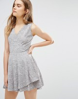 Wal G Skater Dress With Wrap Front