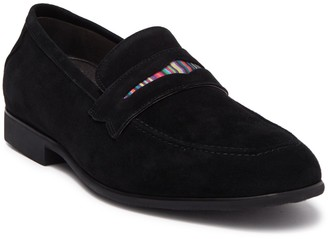 Robert Graham Mitchum Leather Penny Loafer