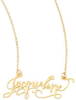 Marco Bicego Brevity Personalized Gold-Plate Calligraphy Necklace