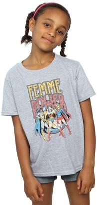 Dc Comics Girls Wonder Woman Femme Power T-Shirt 7-8 Years Black
