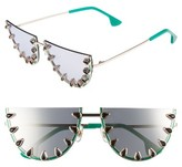 Alice + Olivia Women's Palm Canyon 63Mm Watermelon Special Fit Half Rim Sunglasses - Kelly Green