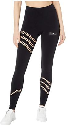 adidas by Stella McCartney Warpknit Tights FI8201 (Black) Women's Casual Pants