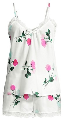 Kate Spade Watercolor Rose 2-Piece Tank & Shorts Pajama Set