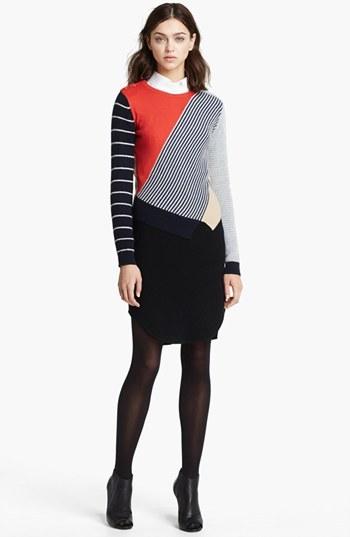 Carven Multicolored Knit Pullover Multicolor Small