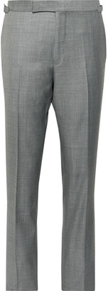 Tom Ford Grey O'Connor Slim-Fit Super 110s Sharkskin Wool Suit Trousers - Men - Gray