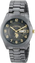 U.S. Polo Assn. Men's Gun-Metal Analogue Dial Expansion Watch USC80048