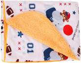 Chinatera Cute Cartoon Baby Blankets Thicken Double Layer Short Floss Infant Stroller Swaddle Wrap