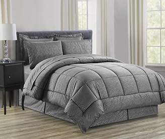 Celine LINEN Luxury 8-Piece Bed-in-a-Bag Comforter Set Including Sheet Set! Wrinkle Free - Silky Soft Beautiful Pattern Complete Bed-in-a-Bag 8-Piece Comforter Set -Hypoallergenic- Full/Queen
