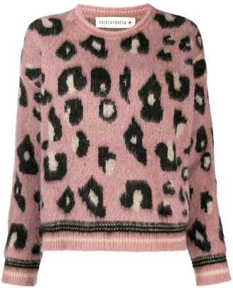 Shirtaporter leopard print sweater