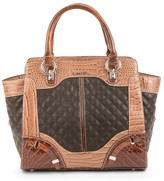 Maddi Rori tote with reptile print and quilted panels