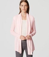 LOFT Ribbed Sleeve Open Cardigan