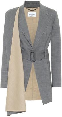 Salvatore Ferragamo Stretch-wool blazer
