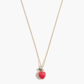 J.Crew Apple pendant necklace