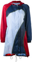 Versace colourblock hooded coat