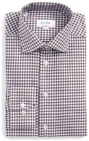 Eton Men's Contemporary Fit Check Dress Shirt
