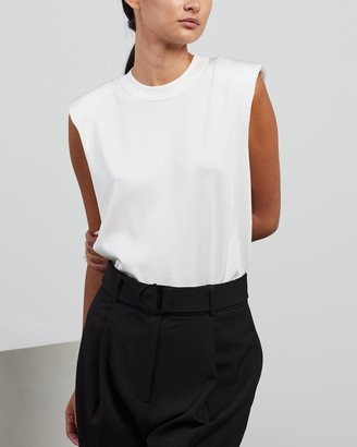 Camilla And Marc Women's White Workwear Tops - Andie Knit Tank - Size 8 at The Iconic