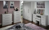 Swift Larson Ready Assembled Package - 3 Door Mirrored Wardrobe, 5 Drawer Chest and 2 Bedside Chests