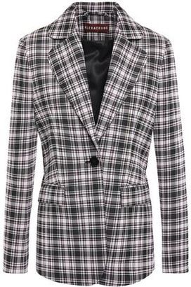 ALEXACHUNG Checked Knitted Blazer
