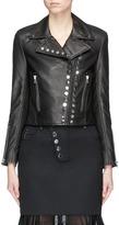 Alexander Wang Stud cowskin leather cropped biker jacket
