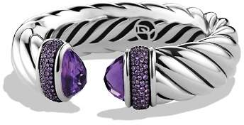 David Yurman Waverly Bracelet with Amethyst & Purple Sapphires