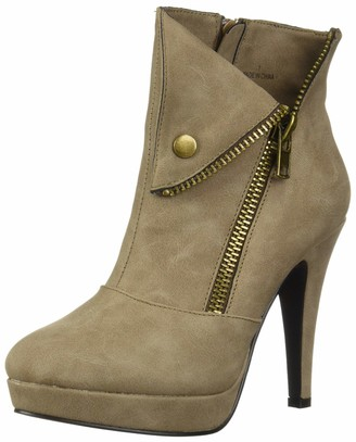 Two Lips Women's Too Snapped Fashion Boot Taupe 11 M US