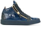Giuseppe Zanotti Design Kriss hi-top sneakers - men - Calf Leather/Leather/rubber - 44