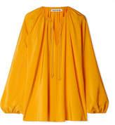 Elizabeth and James Chance Silk-satin Blouse - Saffron