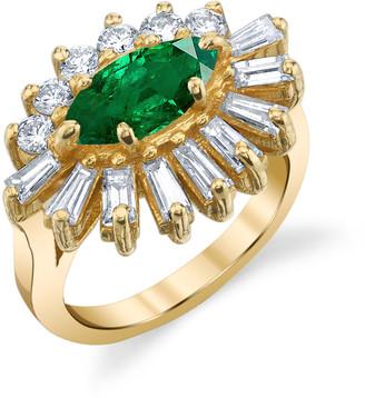 Shay 18K Yellow Gold Emerald and Diamond Evil Eye Pinky