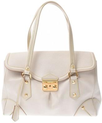 Louis Vuitton White Leather Handbags