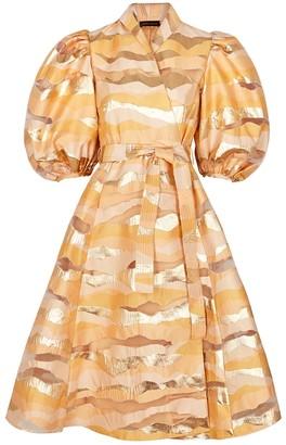 Stine Goya Belinda peach panelled wrap dress