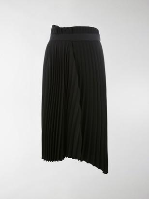 Balenciaga Asymmetrical Pleated Skirt