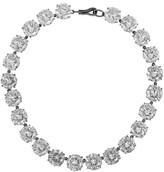 Bottega Veneta Oxidized Sterling Silver Cubic Zirconia Necklace - one size
