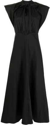 Lee Mathews Maleo puff-sleeve long dress