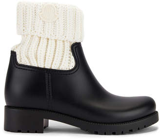 Moncler Ginette Knit Boot in Black & White | FWRD