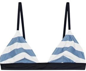 Solid & Striped The Morgan Striped Triangle Bikini Top