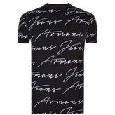 Armani Jeans Signature Print T Shirt