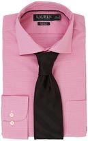 Lauren Ralph Lauren Classic Fit Non Iron Broadcloth Estate Collar with Pocket Dress Shirt