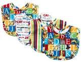 Trend Lab Dr. Seuss Alphabet Seuss Bouquet Bib Set, 4 Count by