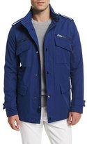 Michael Kors Nylon-Blend Utility Jacket, Blue