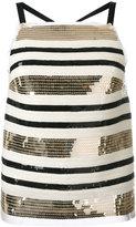 Aviu striped sequined top - women - Polyamide/Silk/Spandex/Elastane - 40