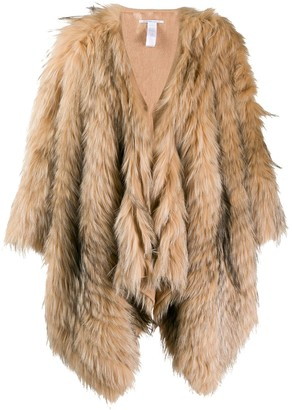 Agnona Fur Cape Coat