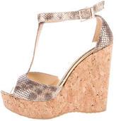 Jimmy Choo Metallic Wedge Sandals
