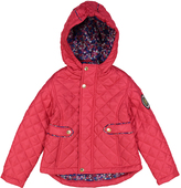 Weatherproof Rose Red Pocket Floral Hooded Puffer Coat - Toddler & Girls