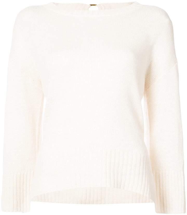 Derek Lam 10 Crosby Long Sleeve Sweater With Back Keyhole
