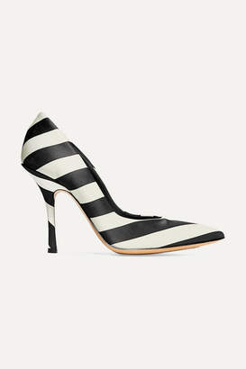 Dries Van Noten Striped Satin Pumps - Black