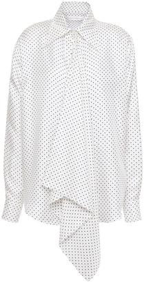 Victoria Beckham Polka-dot Silk-twill Shirt