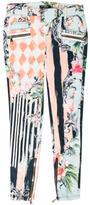 Balmain Floral Moto Jeans