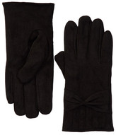 David & Young Faux Suede Bow Gloves